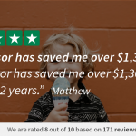 Trustpilot review of BillAdvisor in daily review 2-5-18