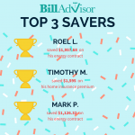 biggest BillAdvisor savers of the daily review 2-21-18